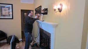 interior cool wall lighting design with mounting tv above
