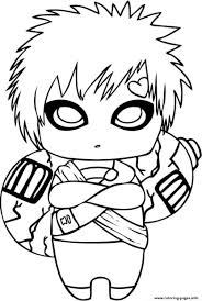 naruto s cute gaara3edd coloring pages printable