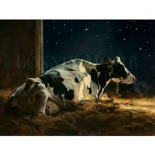 starlight print featuring a holstein dairy cow bed