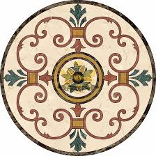 circle cut water jet marble mosaic decorative floor medall flickr