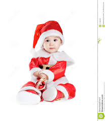 baby boy christmas asian baby boy in a christmas fancy dress royalty free stock