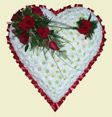 Traditional Funeral Flower - funeral flower hearts wigmore florist
