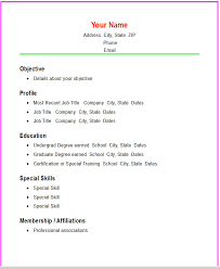 Samples Of Chronological Resumes by Basic Resume Templates Basic Chronological Resume Template