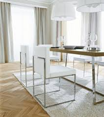 Trendy Laminate Flooring The Most Sophisticated White Leather Dining Chairs