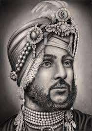 maharaja duleep singh u0027 graphite drawing by pen tacular artist on