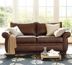 pearce leather sofa pottery barn New Leather Sofas For Sale