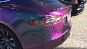 color changing tesla model s video cleantechnica