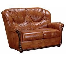canapé cuir fauve canapé cuir 2 places stylisé lucia fauve mobilier salon meuble fin