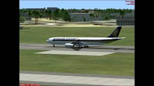 fsx singapore airlines a330 takeoff at ahmedabd airport vaah hd