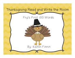 thanksgiving read and write the room fry s 100 activities