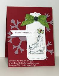 Paper Craft Christmas Cards - stampin up card ideas christmas card by debra burgin heartfelt