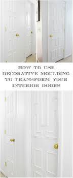 Interior Door Makeover Interior Door Makeover Using Moulding Decorative Mouldings