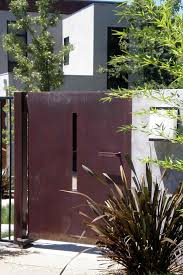 modern metal fence gate home u0026 gardens geek
