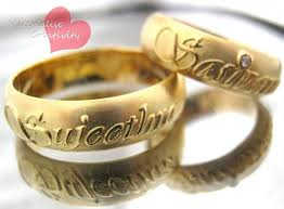 name wedding rings images Gold wedding rings with names engraved in chennai image of jpg