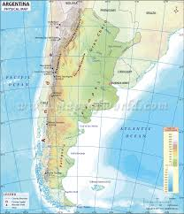 physical map of argentina map of argentina