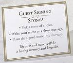 guest signing stones guest signing stones in vase alternative to guest book