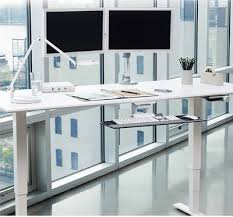 unicor shopping float height adjustable table desks