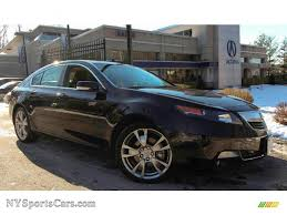 Acura Umber Interior 2012 Acura Tl 3 7 Sh Awd Advance In Crystal Black Pearl 008945