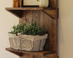 Wall Shelf Bathroom Rustic Shelf Etsy