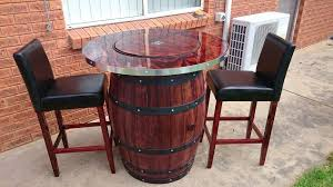 how to make a wine barrel table with built in wine bucket hometalk