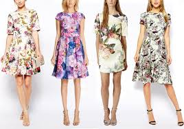 dress for wedding guest abroad pretty floral wedding guest dresses onefabday com