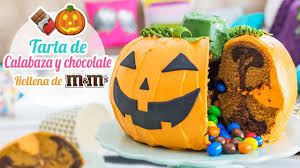 Pumpkin U0026 Chocolate Cake Stuffed With M U0026m U0027s Halloween Ideas