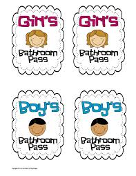 bathroom pass ideas passes templates targer golden co