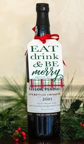 Corporate Holiday Gift Ideas Christmas Bottle Tags U0026 Ribbon Holiday Wine Tags Personalized