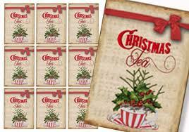christmas tea party favors christmas tea tags christmas gift tags printable gift tags