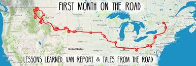 Map Sliding Thought Blog by First Month On The Road Lessons Learned Van Report And Tales
