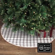plaid tree skirt by the fireplace christmas tree skirt the details
