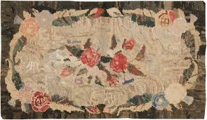 antique hooked carpet 2555 by nazmiyal