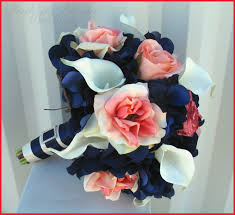blue wedding flowers coral and navy blue wedding flowers pics of wedding