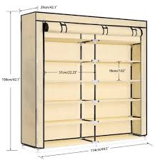 5 tier metal closet with hanging rod storage solutions brylanehome