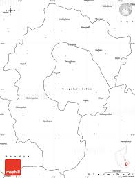 India Blank Map by Blank Simple Map Of Bangalore Rural