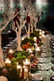 such a lovely green and woodsy table centerpiece one day