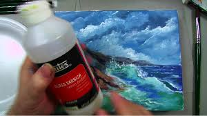 blending colors and painting clouds acrylic painting lessons for