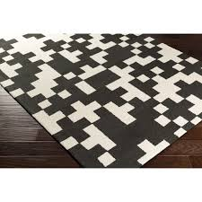 black and white area rug artistic weavers york harlow awhd1028