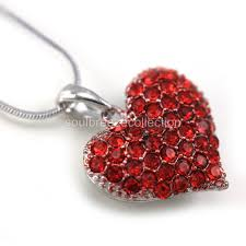 long red heart necklace images Small love red heart valentine 39 s day pendant necklace charm lady jpg