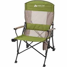 Reclining Oversized Chair Ozark Trail Deluxe Oversize Hard Arm Chair With Reclining Back And
