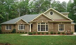 American Small House Small Brick Ranch House Plans Ranch House Design New Brick Ranch