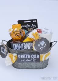 get well soon gifts diy winter cold survival kit a get well soon gift basket idea