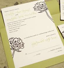 wedding invitations with rsvp included wedding invitations with