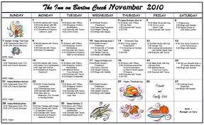 barton creek assisted living november 2010 calendar