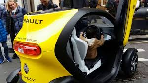 renault twizy and zoe future electric cars bike wrapped as car