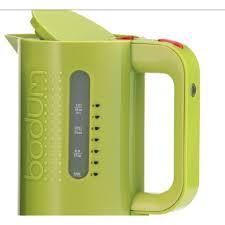 bodum bistro 34oz water kettle in green whole latte love