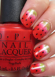 the digit al dozen does food day 1 strawberry nail art