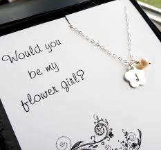 will you be my flower girl gift flower girl gift personalized necklace for flower girl or junior