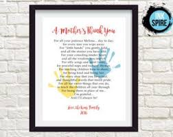 personalized daycare provider gifts for teacher by printsinspired