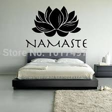 lotus namaste vinyl wall decal stickers meditation yoga wall lotus namaste vinyl wall decal stickers meditation yoga wall stickers t3017 vinyl decals walls vinyl for wall decals from chairdesk 16 69 dhgate com